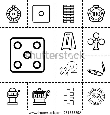 risk icons set of 13 editable