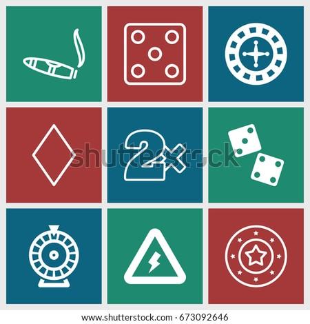 risk icons set set of 9 risk