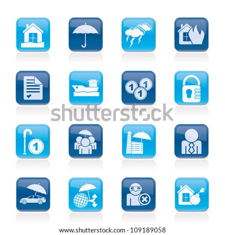 risk icons - vector icon set