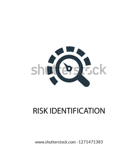 Risk Identification icon. Simple element illustration. Risk Identification concept symbol design. Can be used for web and mobile.
