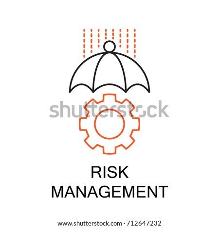Risk Management Creative Idea Concept. Modern Flat thin line icon designed vector illustration.Editable Stroke.