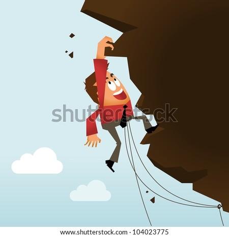 Risk Taking and Hard Work. Vector illustration