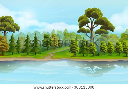 river and the forest  nature