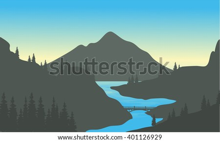 river in the mountain of
