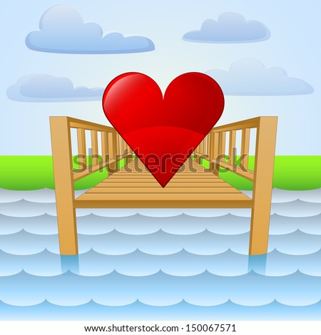 river pier with summer love