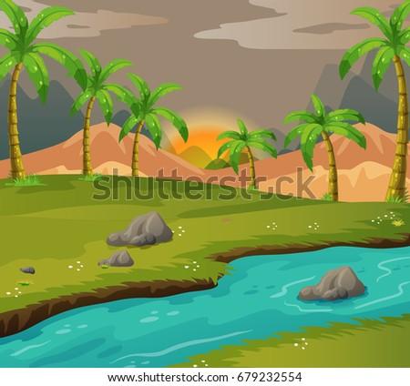 river scene in nature