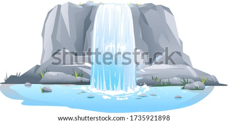 river waterfall falls from