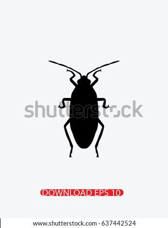 Roach icon, Vector