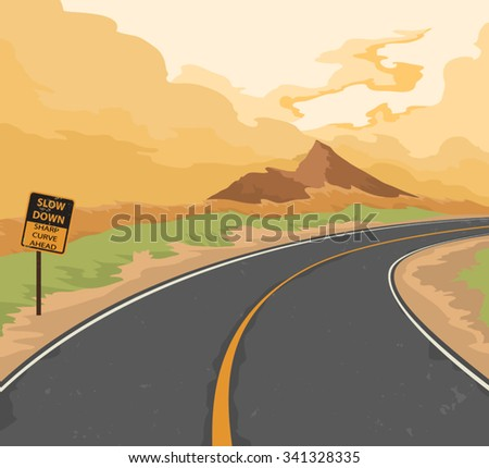 road and traffic sign nature