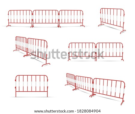 road barrier linked by two or