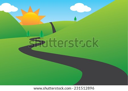 road between mountains