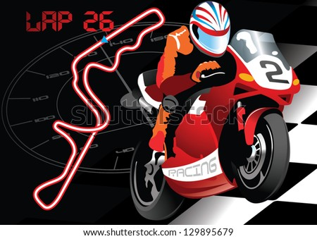 Racing Road Vector Road Bike Racing