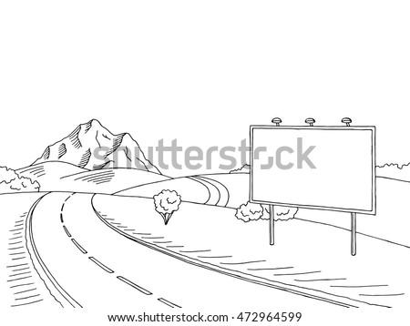 road billboard graphic art