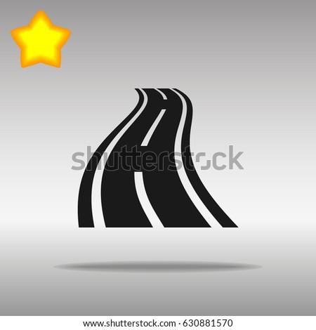 road black icon button logo