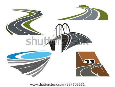road bridge  winding highways