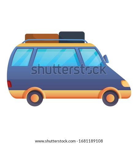 road car trip icon cartoon of