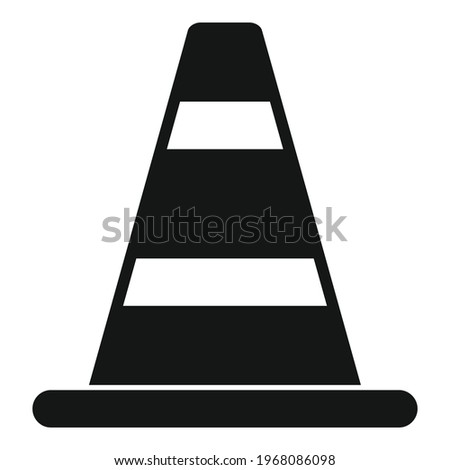 Road cone icon. Simple illustration of Road cone vector icon for web design isolated on white background Foto stock ©