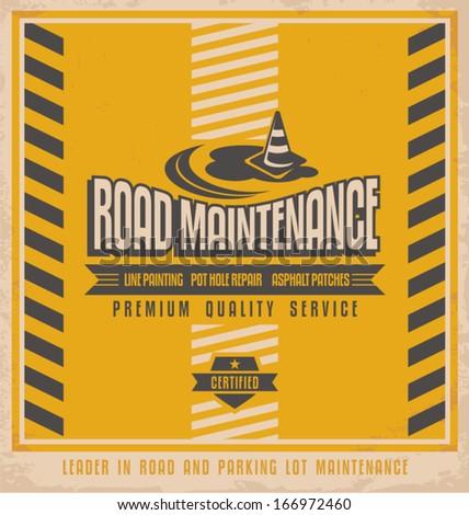 road construction vintage...