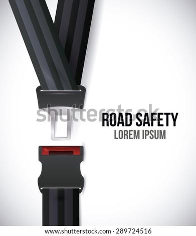 Road design over white background, vectori llustration.