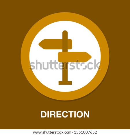 road direction. crossroad direction icon - vector road sign - directional arrows symbol