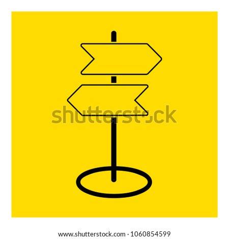 road direction icon vector #1060854599