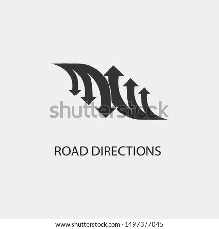 Road Directions vector icon illustration sign