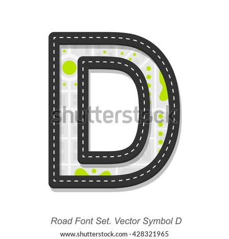 road font sign  symbol d