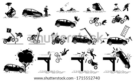 road hazard  car accident  and