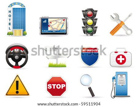 Road icon. Vector - stock vector