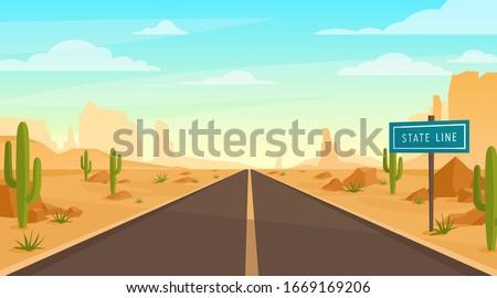 road in desert vector