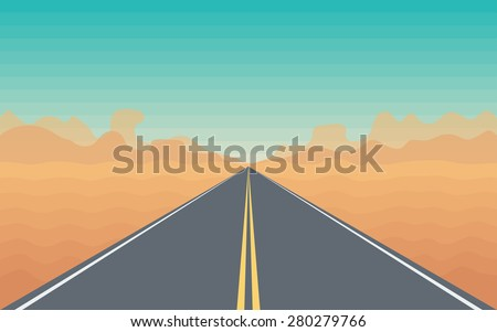 road in the desert with a