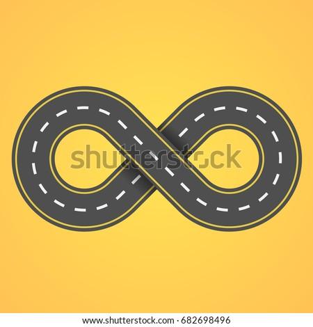 road infinity on an orange...