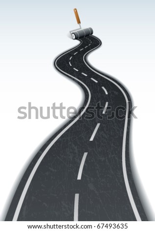 Road line - stock vector