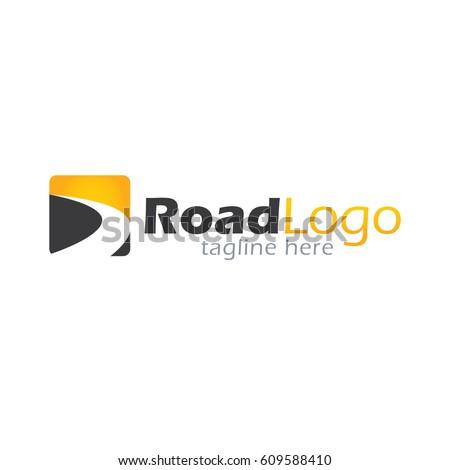 Road logo design template
