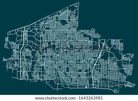 Road map of Plano, Texas, United States Foto stock ©