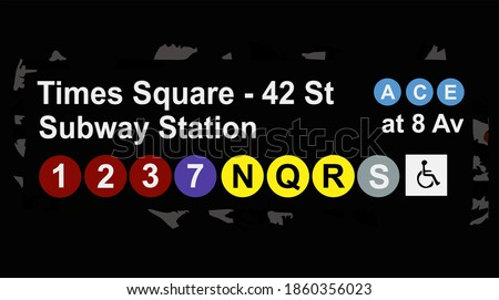 road marker to the subway