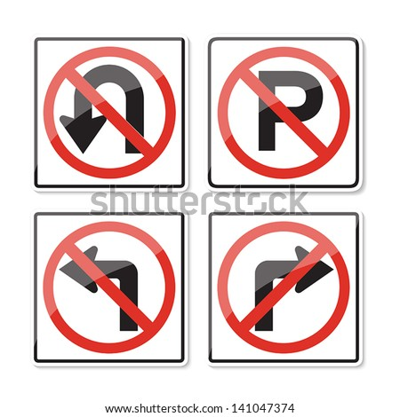 Road Sign Glossy  on white background
