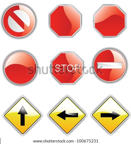 Road Sign Glossy,Vector