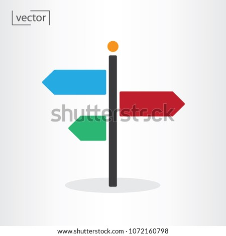 road sign icon vector