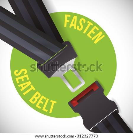 road sign of fasten belt design, vector illustration 10 eps graphic Foto stock ©