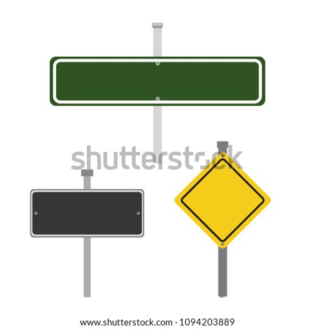 Road sign set #1094203889