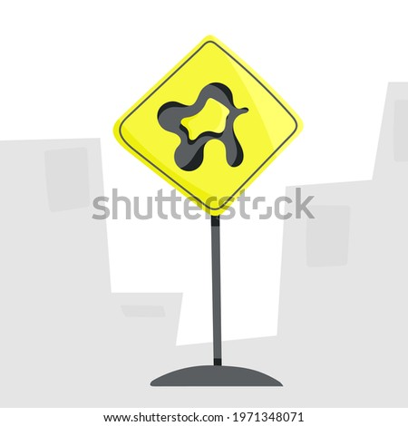 Road sign Unusual sign for pedestrians. Vector illustration.