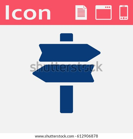 road sign vector icon