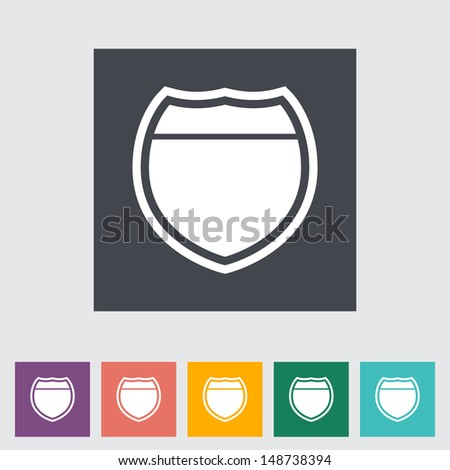 Road sign. Vector illustration.
