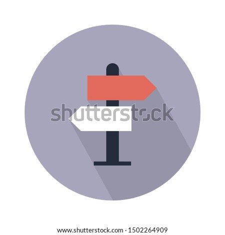 road signboard flat icon - From Map, Navigation, and Location Icons set