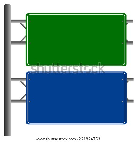 Road signs blank isolated vector #221824753