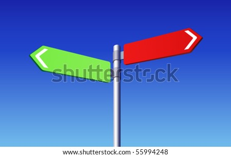 Road signs choose concept