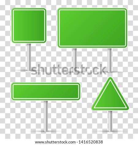 Road signs. Graphic template. Vector illustration #1416520838