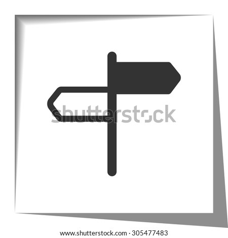 Road Signs icon with cut out shadow effect