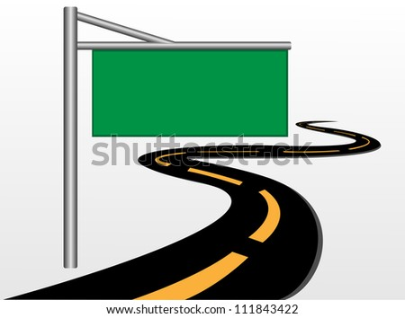 Road signs vector.